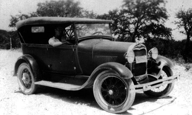Ford Model A In San Antonio Alamo A S
